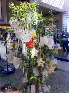 The Tanabata Tree at the ANA counter at LAX!