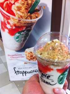 strawberry cheesecake frap