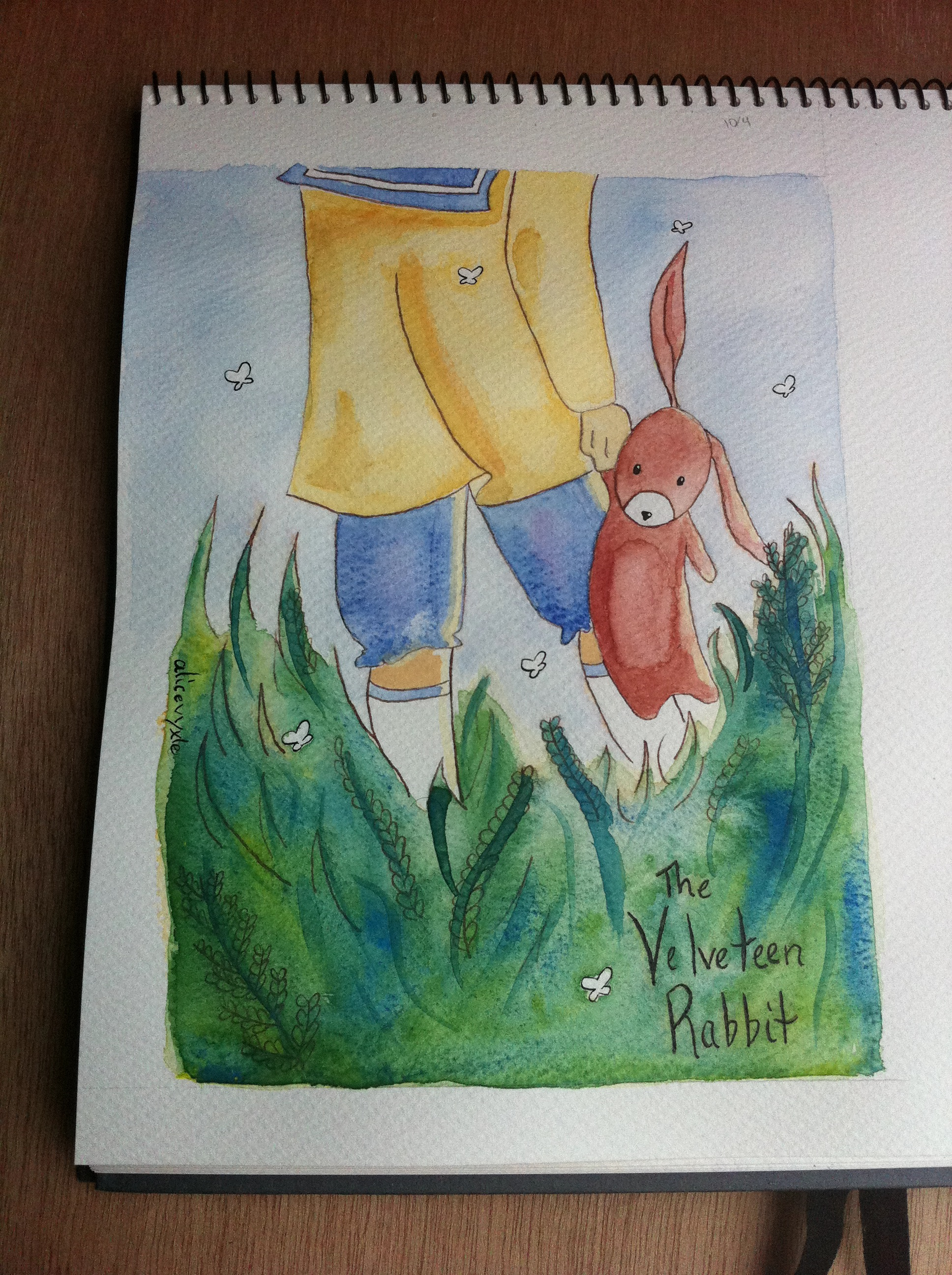 Today\'s Watercolor: The Velveteen Rabbit |