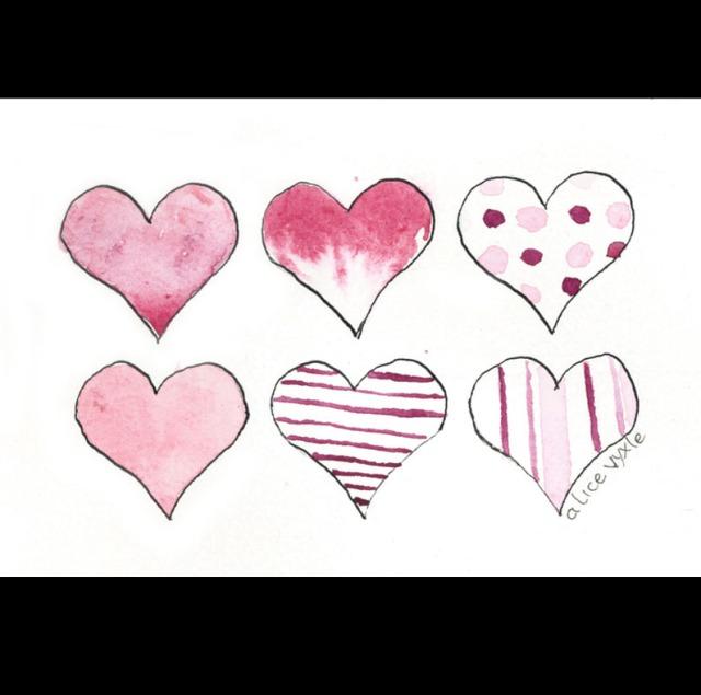 valentine's hearts square anchor